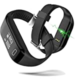 Best Excelvan Trackers Fitness - Damark (TM) H3 Bluetooth Smart Watch Wristband contapassi fitness Review
