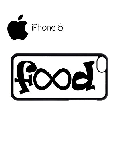 Food Infinity Geek Funny Swag Mobile Phone Case Back Cover for iPhone 6 Black Blanc