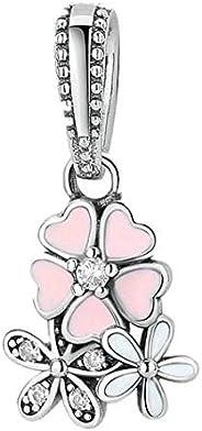 Women's S925 Sterling Silver Pendant Beads for Pandora Style Charm Bracelet Neck