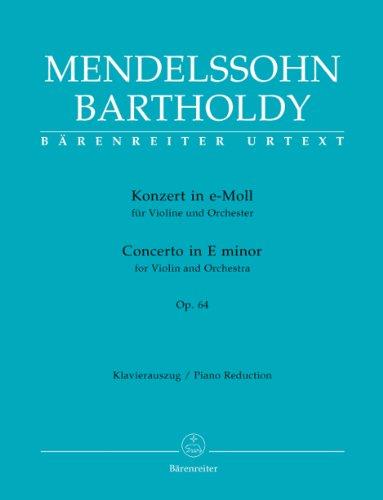 Concerto Violon Opus 64 mi mineur-Vers.1845 (Urtext) - Violon/Piano par Mendelssohn F