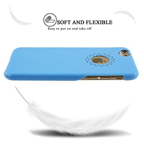 2×iPhone 6S Hülle, iPhone 6 Hülle, SpiritSun Transparent Schutzhülle für Apple iPhone 6 6S (4.7 Zoll) PC Hart Handyhülle Extrem Dünne Bumper Cover mit Stylus Pen - Rot + Schwarz Blau + Grün