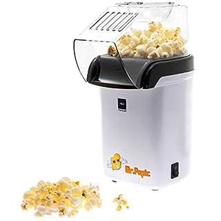 BaboTech Heißluft Popcornmaschine für Zuhause ohne Öl - klein und im Retro Design - weniger Kalorien toller Geschmack