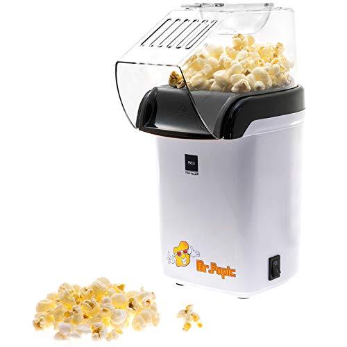 BABOTECH® Macchina per Popcorn ad Aria Calda per la casa Senza Olio – Piccola e dal Design retrò – Meno Calorie Gusto Fantastico + Gratis Popcorn Mais 500 G