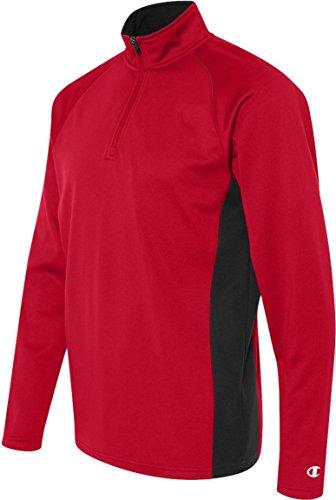 5,4 ml Performance Colorblock-corti, con cerniera rosso  - Rosso porpora/nero