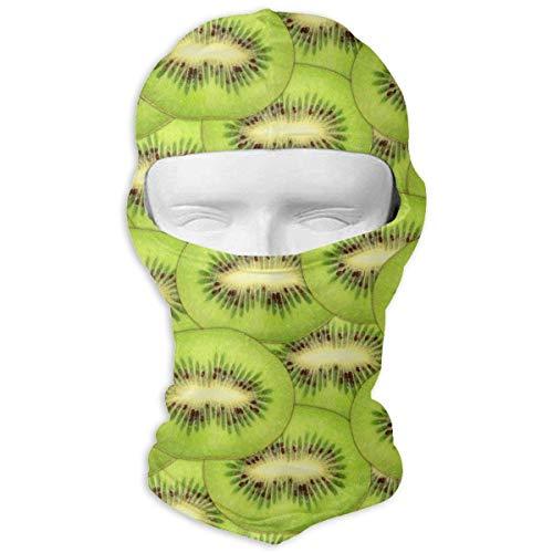 Xukmefat Tranches de frais kiwi vert mûr masque de ski vélo masque visage tube écharpe chapeaux masque magique 3d