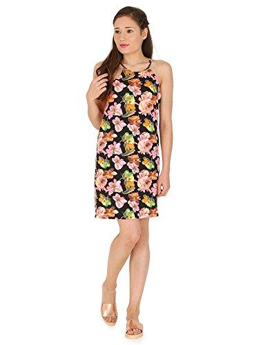 Madame Rage pour femme Mesdames haute cou floral Swing robes bretelles Vêtements Multicolore