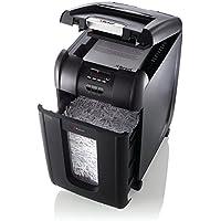 Rexel Auto+ 300X Cross Cut Paper/CD/Credit Card Shredder with 300 Sheet Capacity - Black