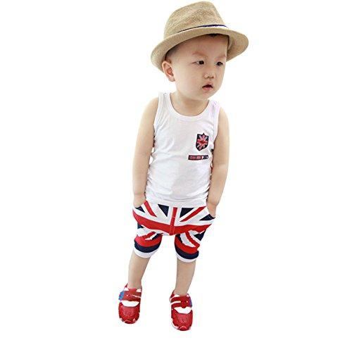 Baby Boy Suit Shirt Hose Sommer 2 Stück für 1 2 3 Jahre alten Jungen Strickjacke Kleidung von Bornbayb (Boys Baby Strickjacke)