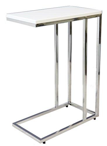 Aspecto Bellini Sofa - Mesa auxiliar para ordenador portátil, madera, color blanco, 46 x 25,5 x 63,5 cm
