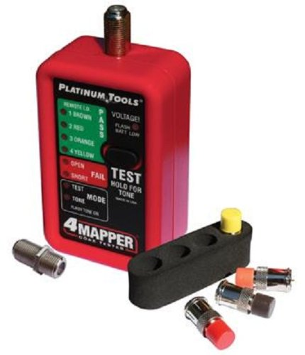 Platinum Tools T104C 4Mapper Koax-Tester mit 4Custom Fernbedienungen und 4Position Holster (Fernbedienung Holster)