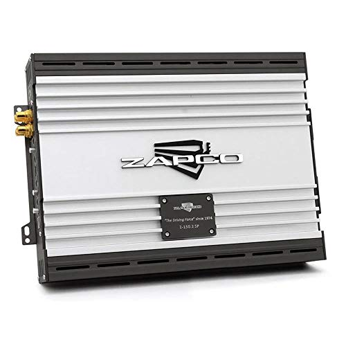 ZAPCO Z-150.2 SP 330W 2-Kanal Class A/B Super Power Verstärker 2X 275W (2Ω) / 2X 165W (4Ω) / 1x 550W (4Ω gebrückt) RMS   Signal/Rauschabstand: >104dB   HPF+LPF+BP   12dB Bass Boost   Subsonic Filter -