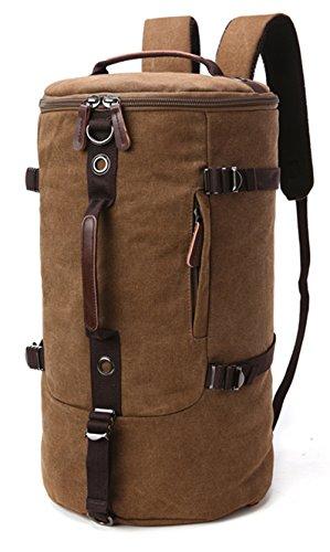 WOMJIA Reisetsache Sporttasche Weekender Tasche Handgepäck aus Canvas Segeltuch Vintage 40 Liter
