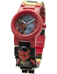 LEGO Ninjago 8020547 Sky Pirates Kai Kids Minifigure Link Buildable Watch | red/Black | Plastic | 25mm case Diameter| Analogue Quartz | boy Girl | Official