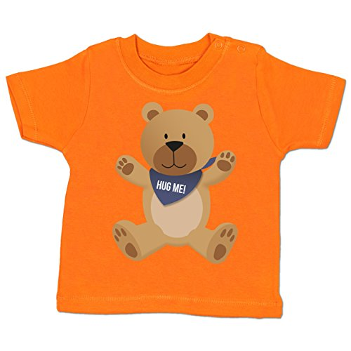 Up to Date Baby - Kleiner Bär Hug Me - 3-6 Monate - Orange - BZ02 - Babyshirt Kurzarm (Hugs-wert T-shirt)