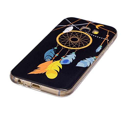 Coque Galaxy A3 2017 Luminous,Transparent Coque pour Samsung Galaxy A3,Ekakashop Ultra Slim-fit Noctilucent avec Motif Cerisier Coque de Protection en Soft TPU Silicone Crystal Clair Souple Gel Housse Campanula Luminous