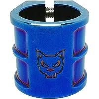Team Dogz 35mm Tamaño Grande Doble Masa Escúter Abrazadera en Neochrome. Adecuado para HIC & ICS Compresión - Azul
