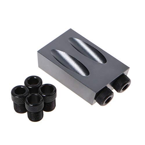 Werst Pocket Hole Jig Kit 6/8/10 mm Drive Adapter Set für Holzbearbeitung Winkel Bohrungen Guide Holz Werkzeuge -
