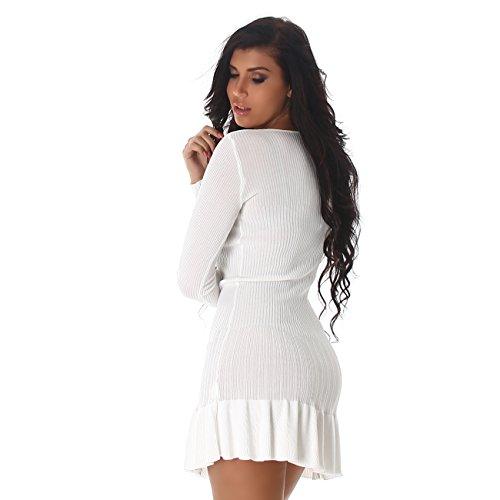 Voyelles -  Vestito  - Sera  - Maniche lunghe  - Donna Bianco