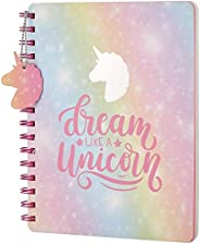 Amazon Brand - Solimo B5 Notebook, 80 GSM,160 Pages, Unicorn Dreams