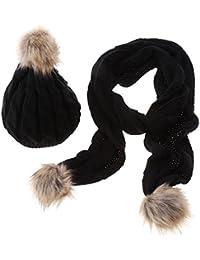 Luxury Designer Combinazione Sciarpa e Cappello in Morbida Lana a18ad3ad79aa