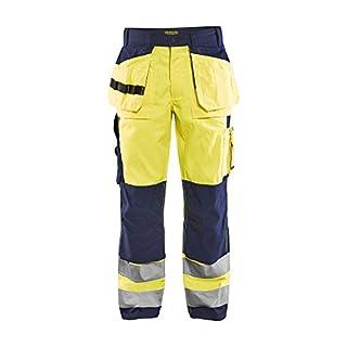 AB Blåkläder | Bundhose High Vis Kl. 2, Gelb/Marineblau, Größe D120