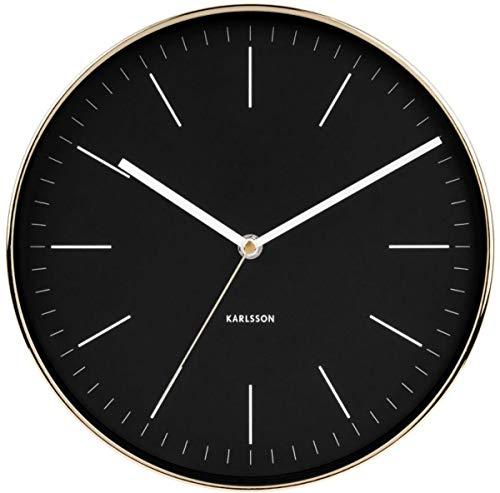 Karlsson Minimal Uhr, Wanduhr, Stahl, Schwarz, One Size
