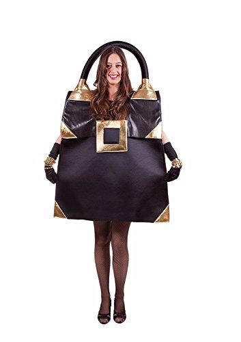 D's Kostüm Nine (Designer Handtasche Kostüm Schwarz - it-Girl Tasche Hollywood Kostüm für Erwachsene - Mottoparty und)