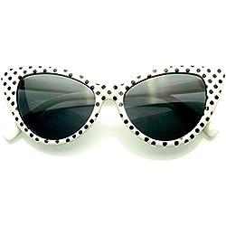 Polka Dot Mujeres Mod Super moda (Blanco)