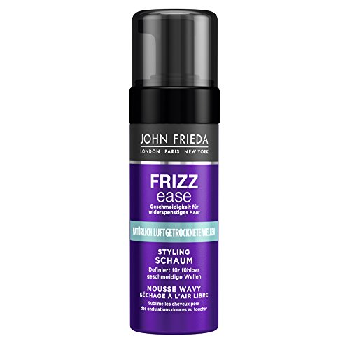 Haar-produkte Frizz (John Frieda Frizz Ease Styling Schaum Luftgetrocknete Wellen - 2er Pack (2 x 150 ml) - mit Moringa-Öl - definiert für fühlbar geschmeidige Wellen)
