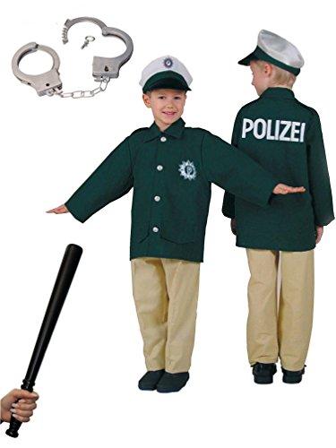 "Kinder-Kostüm \""Polizist\"" Polizei-Jacke, -Mütze, -Hose Police-Officer-Kind (128)"