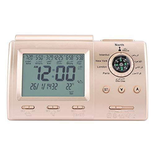 Azan-Gebetsuhr Automatische islamische Gebetstischuhr mit Uhr Multifunktionaler Digitalwecker mit...