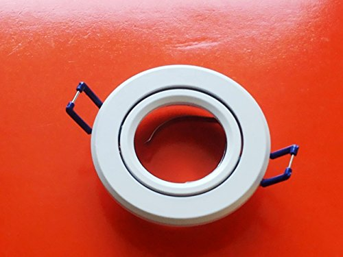 Support pour spot encastrable, orientable en aluminium blanc, 50 mm