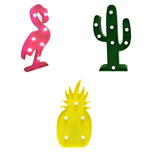 ojektor Nacht Design Flamingo Tropical Ananas LED ideal für Home Reise (Ananas-symbol)