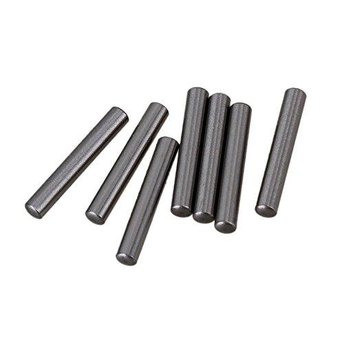 Cnbtr argento acciaio PCB bordo del cilindro metrica spine rod fissare elementi confezione da 100(2x 13mm) - Metrica In Acciaio Rod