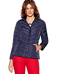 20b2067d40973 Maine New England Womens Navy Fur Trim Hooded Padded Down Jacket 20