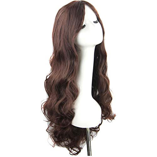 DECJ Women es Long Body Wavy Free Part Glueless Half Hand Tied Synthetic Lace Front Wig for Halloween Heat Resistant Wig for Women,D (Halloween Store Dc)