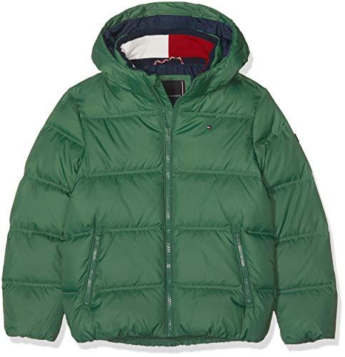 Tommy Hilfiger Jungen Jacke Essential Basic DOWN Jacket, Grün (Hunter Green 395), 164 (Herstellergröße: 14)