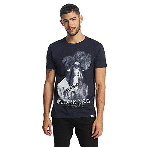 SHINE Original Uomo Maglieria/T-Shirt Animal Print Blu