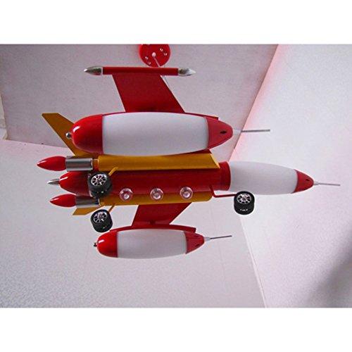 Die Erntesaison Rote Kind-Flugzeug-Lichter-Jungen-Schlafzimmer-Lichter -E14 Lampe * 5 - 5