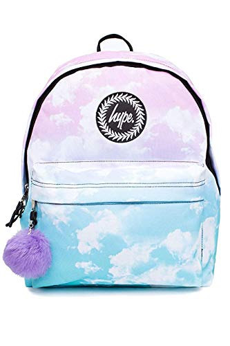 HYPE Fade Clouds Pom Pom Backpack Multi Schoolbag BTS18034 Hype Bags Pom Bag