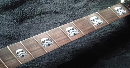 Galaxy Troopers White Fret Markers Inlay Stickers pegatinas Guitar & Bass Diapason