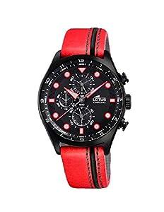 Reloj Lotus Hombre 18593/5 Chrono Piel Rojo
