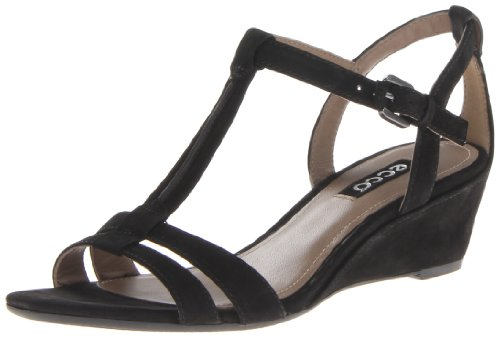 Ecco Damen Rivas 45Heels Sandalen, Schwarz - schwarz - Größe: 39