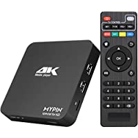 MYPIN 4K Ultra-HD Digital Media Player 2USB Input HDMI/AV Out PPT MKV AVI RMVB RM for HDTV with Remote Control support USB Drives and SD Cards