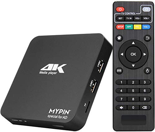 MYPIN Digitaler Multimedia Player Media Player HD HDMI Mini HD TV USB 4K HDMI / AV MPR MKV AVI RMVB RM für HDTV mit Fernbedienung