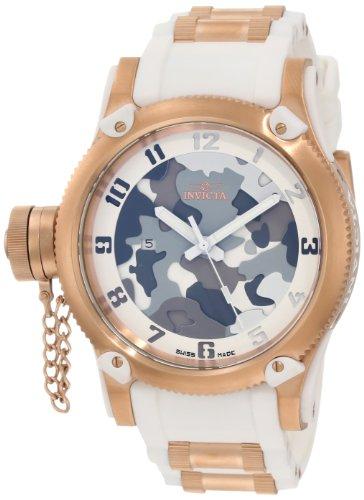 Invicta 11340 - Reloj de Pulsera Unisex Hombre, Poliuretano, Color Blanco