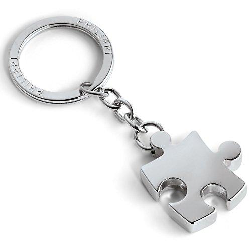 Philippi Puzzle llavero, níquel, pulido