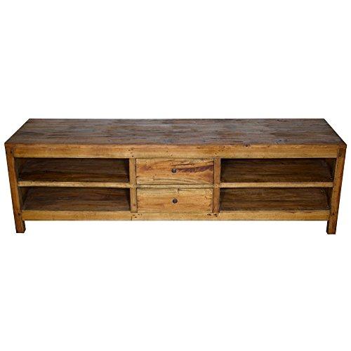 Tv Fernsehschrank Board Schrank Kommode Fernsehtisch Massivholz Rustikal Holz 50 x 170 x 49 cm