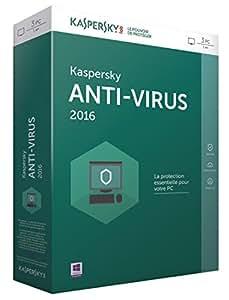 Kaspersky antivirus 2016 (3 postes, 1 an)