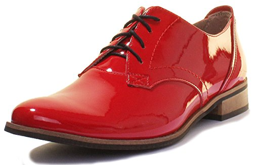 donna Red 3010 Justin Patent Reece stringate Scarpe qIIwg6